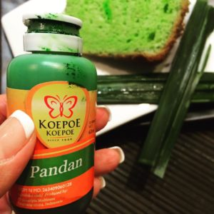 A dash of pandan flavour in your cake Yummy! lovehellip