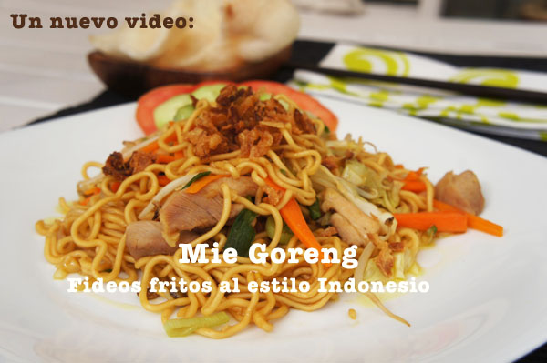 "Video receta ""Mie goreng"""